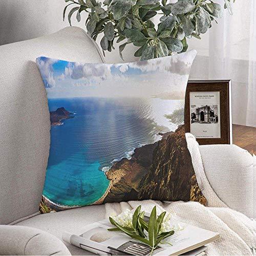 Funda de almohada decorativa cuadrada Hermosas vacaciones vo