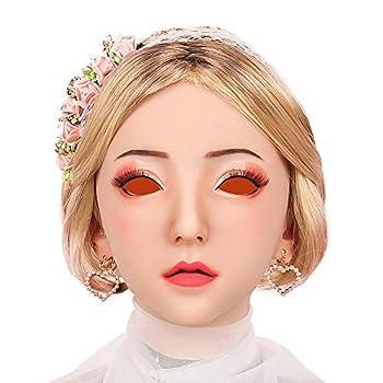 Minaky Silicone Realistic Female Head Mask Handmade Face for Crossdresser Transgender Drag Queen Costumes 4G