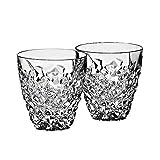 CRISTALICA Whiskyglas 2er-Set Katarina Gold Trinkglas Becher 150ml Bleikristall
