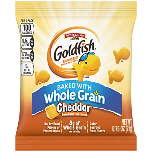 Pepperidge Farm Goldfish Cheddar Whole Grain Snack Crackers, 0.75 Ounce (Pack of 300)