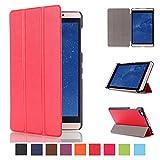 Kepuch Custer Hülle für Huawei MediaPad M2 8.0,Smart PU-Leder Hüllen Schutzhülle Tasche Case Cover für Huawei MediaPad M2 8.0 - Rot
