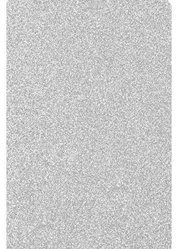 Glitter/Glitzer A4 Transferfolie/Textilfolie zum Aufbügeln auf Textilien - perfekt zum Plottern geeignet - einzelne Folien, Glitter 2:Silver