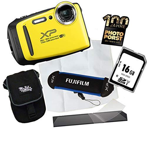 1A PHOTO PORST Jubiläumsangebot Fujifilm Finepix XP130 Outdoor-Kamera Gelb Digitalkamera+16 GB SD Speicherkarte+Tasche+Display-Schutzfolie+Schwimmgurt+Mikrofasertuch