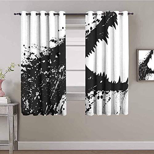LucaSng Cortinas de Opacas - Marrón Abstracto Animal cocodrilo - 280x245 cm - para Sala Cuarto Comedor Salon Cocina Habitación - 3D Impresión Digital con Ojales Aislamiento Térmico Cortinas