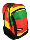 HBCali California Rasta Backpack with Padded Straps