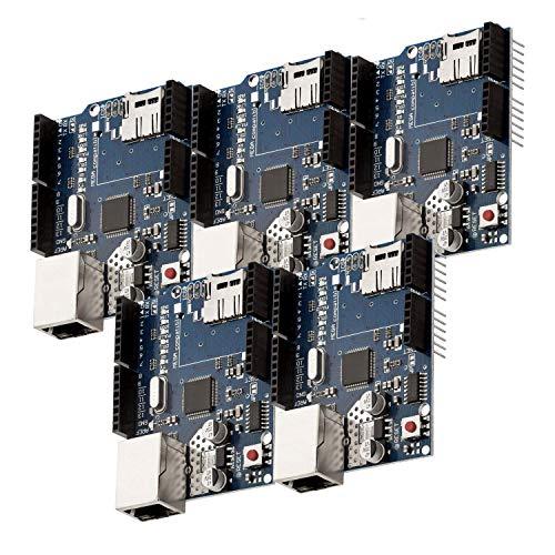 AZDelivery 5 x Ethernet Shield W5100 Internet para Arduino UNO R3 con eBook incluido