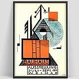 Cartel de escalera Bauhaus impresiones carteles de exposición e impresiones, pinturas de lienzo decorativas sin marco familiares D 40x50cm