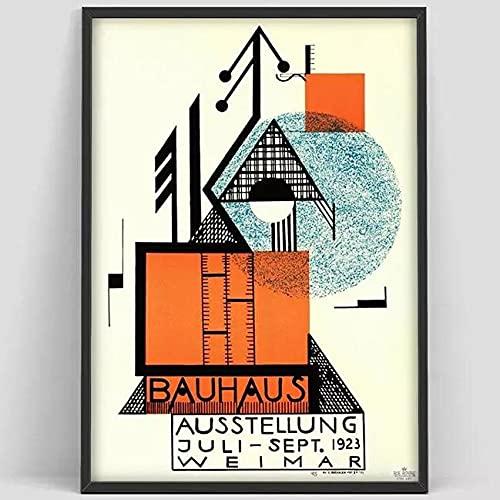 Cartel de escalera Bauhaus impresiones carteles de exposición e impresiones, pinturas de lienzo decorativas sin marco familiares D 50x75cm