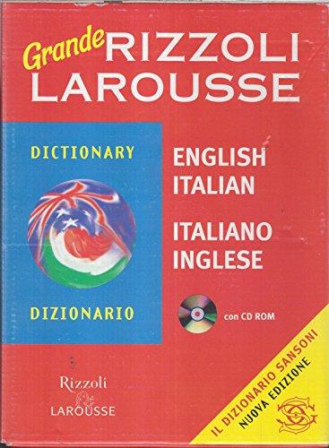 Grande dizionario Rizzoli Larousse italiano-inglese, inglese-italiano. Con CD-ROM