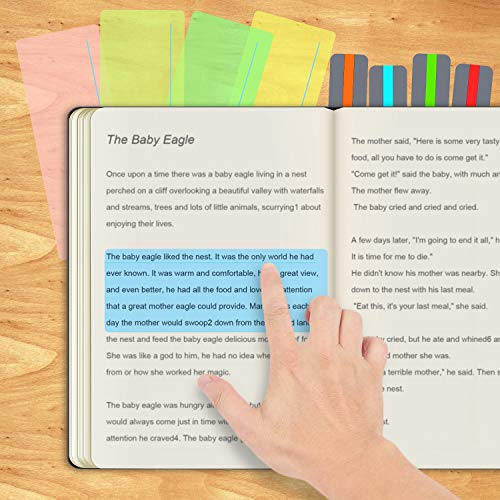 16 Pieces Guided Reading Highlight Strips Colored Overlay Reading Tracking Rulers for Dyslexia, ADHD and to Reduce Visual Stress(8 Standard Size and 8 Large Size) Photo #4