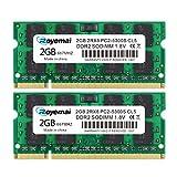 DUOMEIQI 4GB Kit(2x2GB) DDR2 667MHz PC2-5300 Unbuffered Non-ECC 1.8V CL5 2Rx8 Dual Rank 200 Pin SODIMM Portatil Memoria Principal Module Upgrade