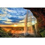 GREAT ART® XXL Poster – Wasserfall – Wandbild