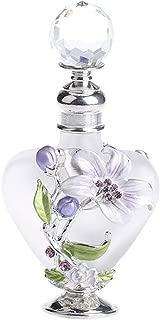 YU FENG Refillable Empty Flower Crystal Perfume Bottle Handmade Home Decor Lady