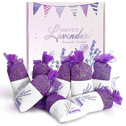LA BELLEFÉE Lavendel Duftsäckchen, L Größe 30g x 8, Lavendelsäckchen für Kleiderschrank, Bett und Garderobe, mit getrockneten Lavendelblüten der Provence, als Lufterfrischer und Mottenschutz