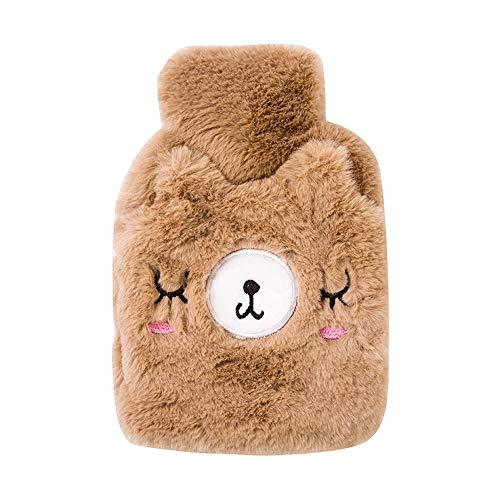 XASY thermoskan, beddengoedset, twee ontwerpen, warm kussenpatroon, winterdesign (2 x 1 liter) voor de winter, ouderen, kinderen enz.