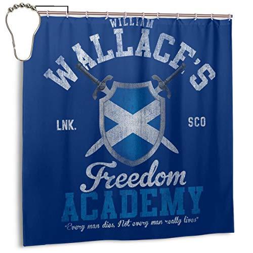 GSEGSEG Cortina de Ducha de Tela de poliéster Impermeable con diseño de corazón de Braveheart William Wallace Freedom Academy, Cortina de baño Decorativa con Ganchos, 182,88 x 182,88 cm