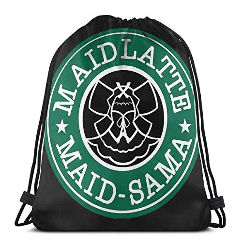 OPLKJ Maid-Sama! Kaffee Sport Tasche Gym Sack Kordelzug Rucksack