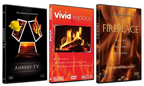 Kaminfeuer DVD Kollektion - Ambient TV Natur Landschaften und Lebhafte Kaminfeuer Paket zur Entspannung