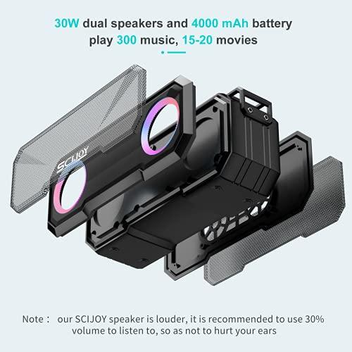 SCIJOY Altavoces portátiles Bluetooth