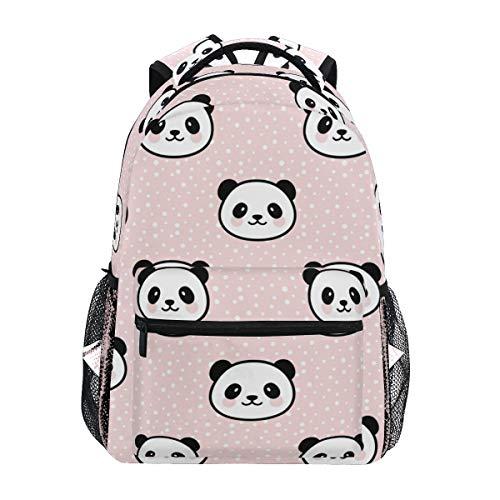 Panda Girls Backpacks for Elementary School Cute Bookbag for Kids