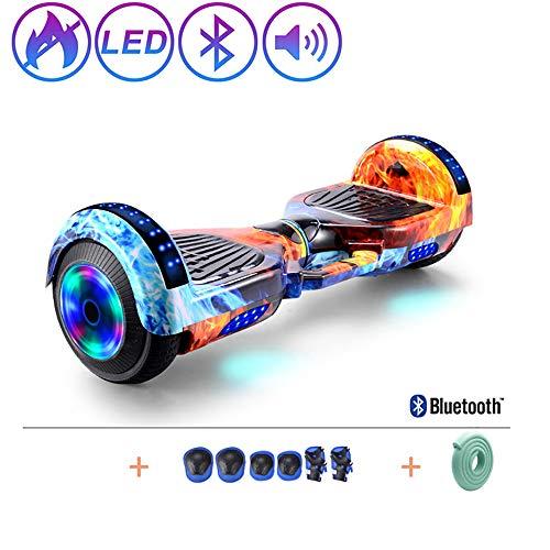 Hoverboard voor kinderen en volwassenen, Self-Balancing Elektrische Scooter met LED-licht En De Bluetooth, 7