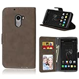 Handy Kasten für Lenovo Vibe K4 Note A7010/Vibe X3 Lite,Bookstyle 3 Card Slot PU Leder Hülle Interner Schutz Schutzhülle Handy Taschen(Braun)