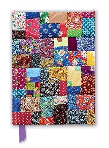 Premium Notizbuch DIN A5: Patchwork Quilt: Unser hochwertiges, liniertes Blankbook mit festem, künstlerisch geprägtem Einband und Magnetverschluss (Premium Notizbuch DIN A 5 mit Magnetverschluss)