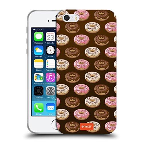 Head Case Designs Oficial Emoji Donuts Patrones 3 Carcasa de Gel de Silicona Compatible con Apple iPhone 5 / iPhone 5s / iPhone SE 2016