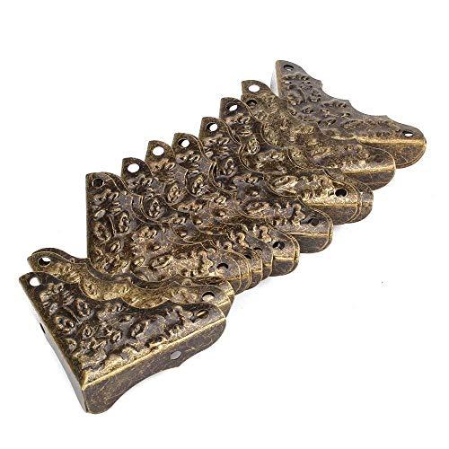 Jashem 20PCS Vintage Antique Decorative Corner Protectors Guards Desk Edge Cover Bronze
