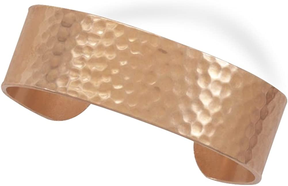 AzureBella Jewelry Hammered Solid Copper 19mm Cuff Bracelet - Made in The USA