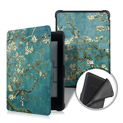 PINHEN Custodia per Kindle Paperwhite Case - Slimshell Cover per Tutte le Generazioni di Kindle Paperwhite Prima del 2018 (Adatto Tutte le versioni 2012, 2013, 2015 e 2016) (Flower)
