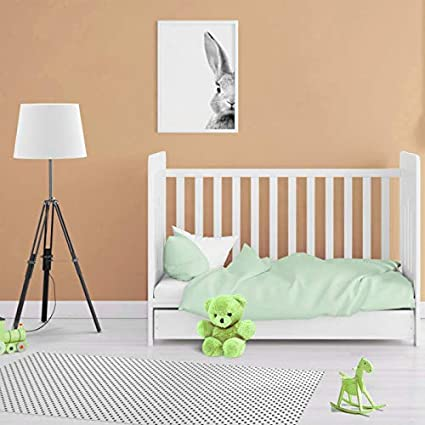 Adam Home 300 Thread Count Egyptian Cotton Toddlers Bedding Set Duvet Quilt Cover with Pillowcase Nursery Cot Baby Bed Linen for Boys /& Girls Chocolate