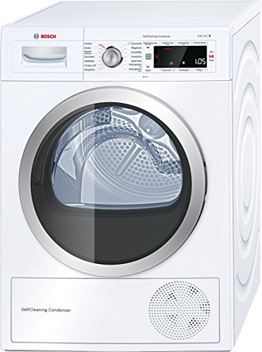 Bosch WTW875W0 Serie 8 Wärmepumpen-Trockner / A+++ / 176 kWh/Jahr / 8 kg / Weiß mit Glastür / AutoDry / SelfCleaning Condenser™ / SensitiveDrying System