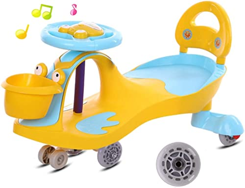 Kinder Twist Car, Swivel Roller Wiggle Toyf Kinder Spaß Geschenk Auto für fürt Musik Lenkrad Indoor Outdoor Silent Wheel
