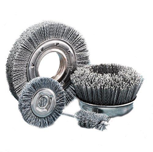 "United Abrasives- SAIT 04130 4"" x 5/8 Arbor 120 Grit Large Diameter Angle Grinder Nylon Abrasive Brush"