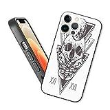 Compatible con iPhone 12 Series Case Sagrado Geometría Cráneo Muerto Cabeza Alquimia Hipster Estilo Tatuaje Arte para iPhone 12 Mini 5.4 pulgadas