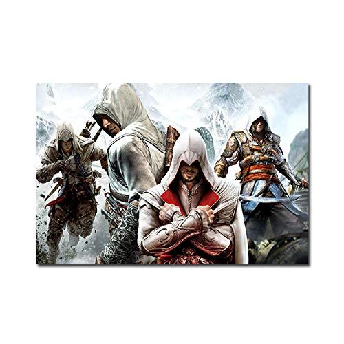 mmzki HD-Druck Anime Malerei Leinwand Bilder Assassins Creed Poster Wandkunst für Wohnzimmer Kinderzimmer Dekoration ungerahmt-No_Frame_50x85_cm_XQ-293
