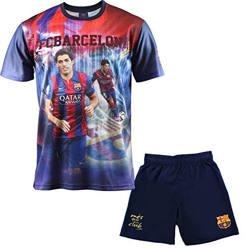 F. C. Barcleona Jungen T-Shirt und Shorts Luis Suárez, offizielle Kollektion, Kindergröße - Für Kinder (4 Jahre)