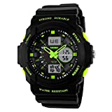TONSHEN LED Digital Montre Bracelet Analogique Quartz 50M Etanche L'eau Outdoor Sport...