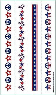 [Amscan]Amscan 4th of July Patriotic Tattoo Bracelet , Red/White/Blue, 9.2 x 4.3 395685 [並行輸入品]