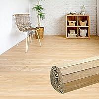 ウッドカーペット 4.5畳用 団地間4.5畳用 約243x245cm [ナチュラル色] [PJ-40シリーズ] [4色展開] DIY フローリング 木目 簡単 敷くだけ シート セルフリフォーム 低ホルマリン [並行輸入品]
