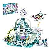 ZzWEI Bloques De Construcción Ice Snow Magic Castle Carriage Princess Palace Ladrillos 724 Uds + Modelo De Construcción DIY Juguetes De Regalo para Niños para Adultos