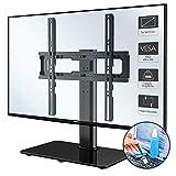 1home Support TV sur Pied pour télévisions LCD/LED/Plasma de 26 à 55 Pouces Pivotante Hauteur réglable