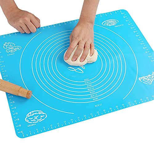 Silicone Baking Mat for Pastry Rolling Dough with Measurements, Liner Heat...