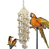 Medium E Large Parrot Toys, Color Legno Corda del Cotone Block, Bite String, Uccello Bite Giocattolo