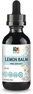 Lemon Balm Tincture 2 FL OZ Alcohol-Free Liquid Extract, Organic Lemon Balm Leaf (Melissa officinalis)