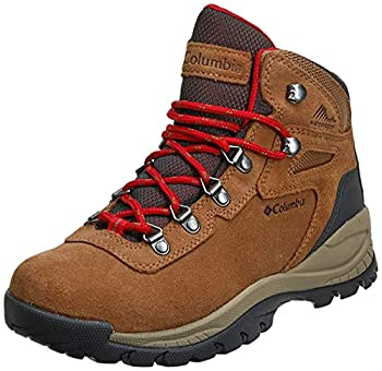 Columbia womens Newton Ridge Plus Waterproof Amped Hiking Boot Elk/Mountain Red 7 US