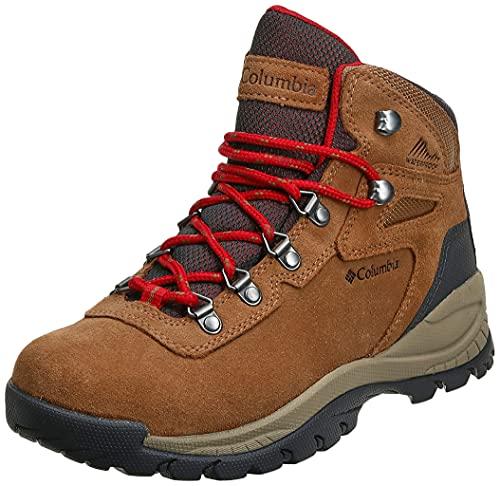 Columbia womens Newton Ridge Plus Waterproof Amped Hiking Boot, Elk/Mountain Red, 10 US