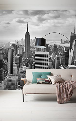 Komar - fleece fotobehang NYC BLACK AND WHITE -300 x 250 cm - behang, muurdecoratie, New York, Manhattan, USA - 323-DV3