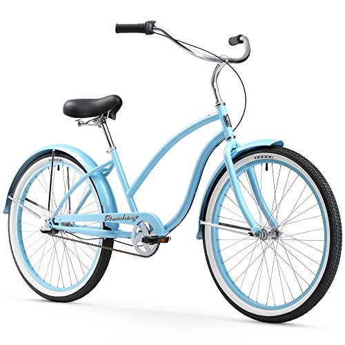 Firmstrong Chief Lady Three Speed Beach Cruiser Bicycle, 26-Inch, Baby Blue